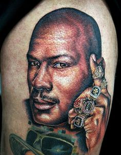 Michael Jordan Tattoo by Cecil Porter