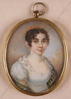 Franziska Schoepfer, Portrait of a young lady, ca.1810