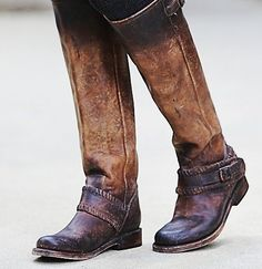 to kick around in boots as comfy as these look! love the rugged, soft, worn look of the leather
