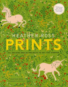 Heather Ross Prints: omg, this book looks awesome! comes with a dvd, so you can print your own fabric from her designs and a bunch of other projects.