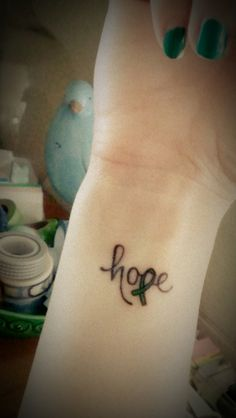 Mitochondrial Disease Awareness Week for 2013 might be over but our hope for understanding of the disease and a cure never will be until every patient has a fighting chance with this disease and receive compassionate, thoughtful medical care everywhere they go. Mito Awareness Hope Ribbon Tattoo