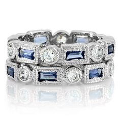 Dimitria's Vintage Rings 2 Band Set - Blue