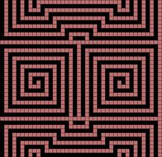 v178 - Grid Paint Wayuu Mochila pattern triangle in a square