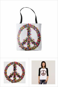 Colourful peace symbol with paint-spatters and flowers. Symbols, Peace, Signs, Products, Shop Signs, Sobriety, Gadget, Glyphs, Sign