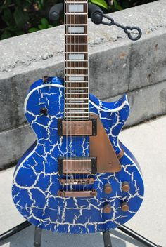 2012 AXL AL-820 Badwater 1216 Electric Guitar, Crackle Blue -- Nearly New!! | eBay