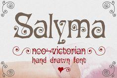 Salyma neo-victorian hand drawn font by Minhocossauro Emporium on @creativemarket