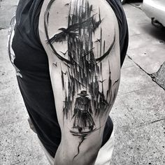 #thegunslinger #darktower #stephenking #wowtattoo #blacktattoomag #blacktattooart #inkstinctsubmission #equilattera #black #tattoo #btattooing #darkartists #blackworkerssubmission #blackwork #blackworkers #tattoo #tattrx