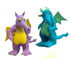 Gustav  sewing pattern to make this soft toy dragon by pcbangles