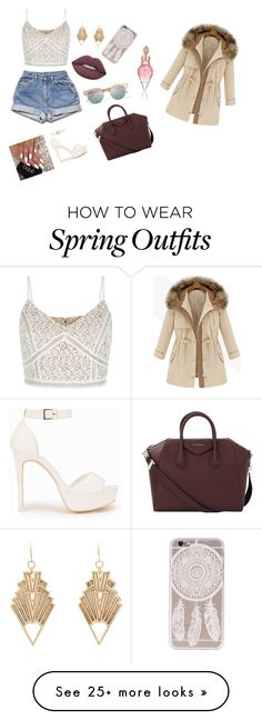 """""""Outfit of the day! """" by aliciajardw on Polyvore featuring Le Specs, Lime Crime, Charlotte Russe, Givenchy and Nly Shoes"""