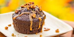 Savor this recipe for indulgent, warm Buttermilk Chocolate Cake with whisky-salted caramel sauce and spiced pecans.