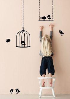 Modern decor, bird theme. i'd do my own house this way!