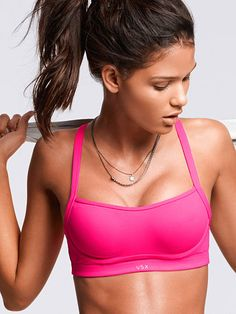 2b58627dbf61c Power-up in pink  Angel VS Sport Bra Best Sports Bras