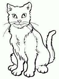 Resultado de imagen de dibujos de gatos tiernos para colorear