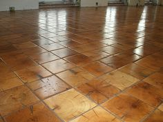 log end flooring | End grain floors made from reclaimed pine beams. Stained, oiled and ...