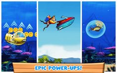 Gear up for it's time to take Steve for a Scuba run! Dive and emerge yourself into a water infested world filled with amazing animals that lie below the surface. The boisterous sea of liberty is never without a wave!<p>Swipe your way around and avoid the