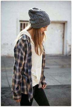 What a good idea. Pair a flannel over a plain hoodie to be cozy without a jacket.