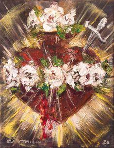 Cart - Jose Luis Castrillo Catholic Prayers, Catholic Art, Religious Art, Date, Mary Tattoo, Art Haus, Spiritual Decor, Beautiful Prayers, Heart Of Jesus