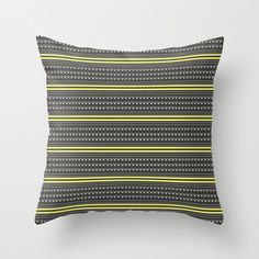 neon tribal chalkboard Throw Pillow