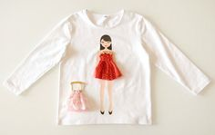 Love these adorable shirts! Little girls will love dressing up the dolls on their shirt :)