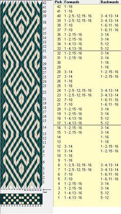 Diagonal, 16 tarjetas, 2 colores, repite cada 16 movimientos // sed_327 diseñado en GTT༺❁