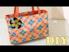 Do Lixo ao Luxo : Bolsa Sacola com Caixa de Leite - DIY Artesanato - YouTube