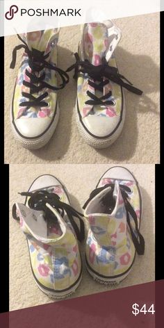 Colorful polka dot leopard Converse hightops 5M/7W Cheaper on Vinted Converse Shoes Sneakers