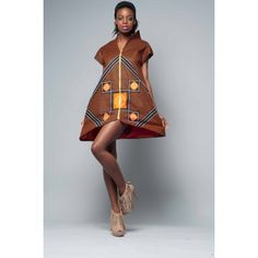 Women :: Anna Luks Short Kanga Print Dress - www.anglonubia.com