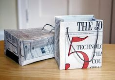 Gift bags from newspaper