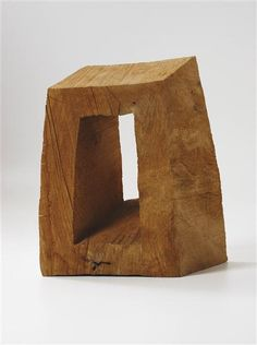 View Askewed Frame By David Nash; 24 x 17 x 10 in. Access more artwork lots and estimated & realized auction prices on MutualArt. Sculptures Céramiques, Art Sculpture, Modern Sculpture, Abstract Sculpture, Cardboard Sculpture, Wooden Art, Art Abstrait, Land Art, Wood Carving