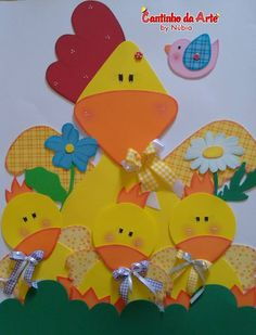 Xmas Crafts, Felt Crafts, Easter Crafts, Crafts For Kids, Cartoon Pics, Cartoon Picture, Flannel Boards, Decorate Notebook, Hens