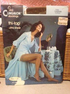 Vintage Sears beige thigh stockings