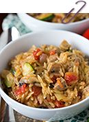 Creamy Orzo with Chicken Sausage » Table for Two