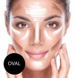 Contouring: Ovales Gesicht