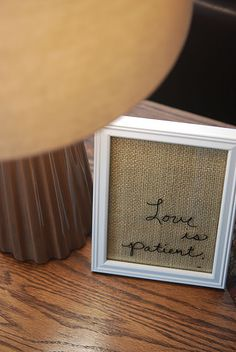 Love love love this. Looking for a frame RIGHT NOW. Could be any number of subtle/plain fabrics or papers....