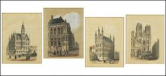 A SUITE OF FOUR GOTHIC CATHEDRAL ARCHITECTURAL PRINTS. Lot 150-6021