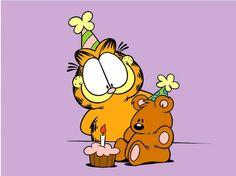 Garfield, by Jim Davis Happy Birthday Pooky! Garfield Comics, Garfield Pictures, Garfield Quotes, Garfield Cartoon, Garfield And Odie, 36th Birthday, Happy Birthday, Birthday Greetings, Birthday Wishes