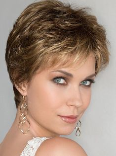 A thoughtfully structured short wig, the Air lace front monofilament wig by Ellen Wille is a meticulously crafted hand-tied pixie. Short Grey Hair, Short Hair With Layers, Short Hair Cuts For Women, Short Hair Styles, Long Pixie Hairstyles, Short Hairstyles For Women, Pixie Haircut, Cool Hairstyles, Short Layered Haircuts