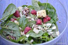 Spinacino, quinoa e lamponi (Spinach salad with quinoa and raspberries ) – DoubleKitchen