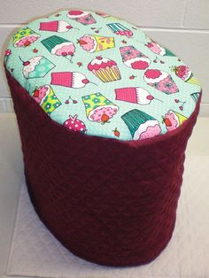 Check out this item in my Etsy shop https://www.etsy.com/listing/218430142/burgundy-teal-quilted-cupcake-cover-for