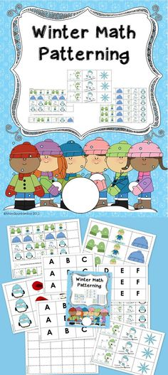 Your students will enjoy this fun Winter themed math patterning activity in a math center or independently. #math