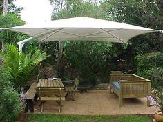 diy outdoor umbrella Bing Images - Patio Umbrellas - Ideas of Patio Umbrellas - diy outdoor umbrella Bing Images Backyard Shade, Outdoor Shade, Patio Shade, Shade Garden, Awning Shade, Patio Diy, Patio Pergola, Backyard Patio, Backyard Ideas