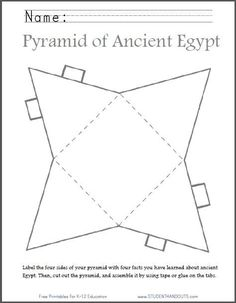Ancient Egyptian Art For Kids Ancient History - Ancient egyptian art for kids _ alte ägyptische kunst für kinder _ art égyptie - Ancient Egypt Activities, Ancient Egypt For Kids, Ancient Egyptian Art, Ancient History, Egyptian Pyramid, Ancient Egypt Crafts, European History, Ancient Aliens, Ancient Greece