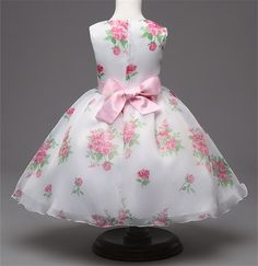 Baby Girl Dress Summer 2016 Teen Dress For Girl Printed Formal Dresses Children's Clothes Toddler Puffy Wedding Gown For Girls