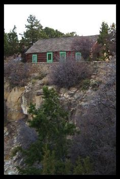 buckey O'neill cabin grand canyon - Stayed summer of 94 at this amazing cabin on the edge of the Grand Canyon, (south rim) part of Bright angel Lodge. The rock wall in front of it is the edge of the canyon!