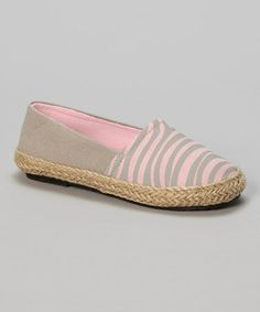 Gray & Pink Animal Flat #zulily #zulilyfinds