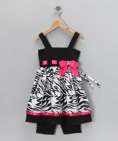 Zebra tunic and shorts