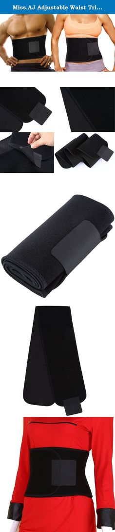 """Miss.AJ Adjustable Waist Trimmer Belt for Waist Back Support Brace. Features: Light weight Adjustable size One size fits most Dimensions : length aprox 52""""x width 7.8"""" Soft & comfortable Neoprene fabric Easy & comfortable to wear Adjustable Velcro closure Fully adjustable to different waist sizes Expels excess moisture & sweat keeping skin dry & comfortable Thin enough to use in public & compact for on the go! Usage: Burn Belly Fat. Wear it anytime. Shed excess water weight. Works well…"""