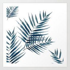 Blue palm watercolor Art Print by craftberrybush - X-Small Palm Tree Quotes, Birch Tree Wallpaper, Red Maple Tree, Tree Illustration, Tree Photography, Leaf Art, Watercolor Art, Fine Art, Art Prints