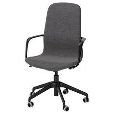 IKEA - LÅNGFJÄLL Swivel chair Gunnared dark gray, black