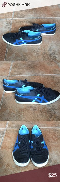 Onitsuka Tiger by Asics Leather Shoes Rare Onitsuka Tiger by Asics leather shoes with a few scuffs, but overall in good condition! Onitsuka Tiger by Asics Shoes Sneakers